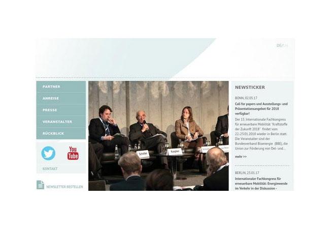 15. Internationale Fachkongress für erneuerbare Mobilität / Internetseite / Pressebild