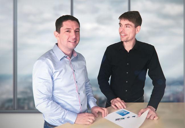 Pressebild: Michael Böhm (links), Geschäftsführer der wiwi consult, und Alexander Gerdes, Geschäftsführer der Quantec Sensors, sind seit 25. April dieses Jahres Kooperationspartner und realisieren künftig gemeinsam BNK-Konzepte im süddeutschen Raum.