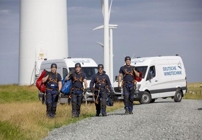 Etwa 180 Serviceteams sind für die Deutsche Windtechnik international im Einsatz (Foto: Deutsche Windtechnik)