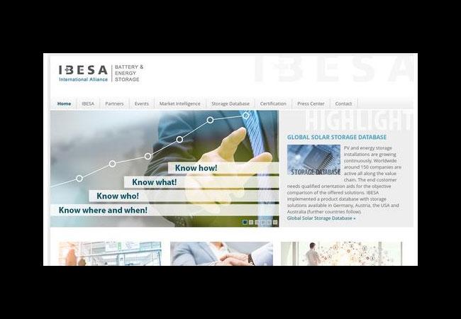 Pressebild: Internetauftritt - http://www.ibesalliance.org/index.php?id=2