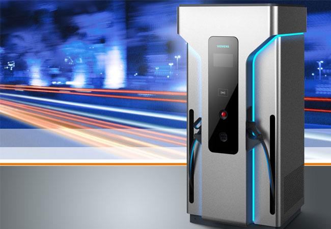 Mit der neuen Generation der Siemens Hochleistungsladesäule können aktuelle und künftige Elektrofahrzeuge in weniger als zehn Minuten 100 Kilometer elektrische Reichweite laden.
