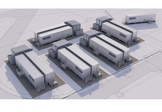 Pressebild: Großbatterie-Systemen der STEAG