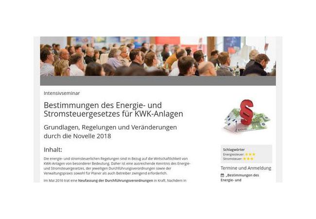 Bestimmungen des Energie- und Stromsteuergesetzes für KWK-Anlagen / Pressebild