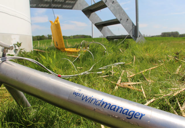 Pressebild: wpd windmanager Fundamentmesssystem