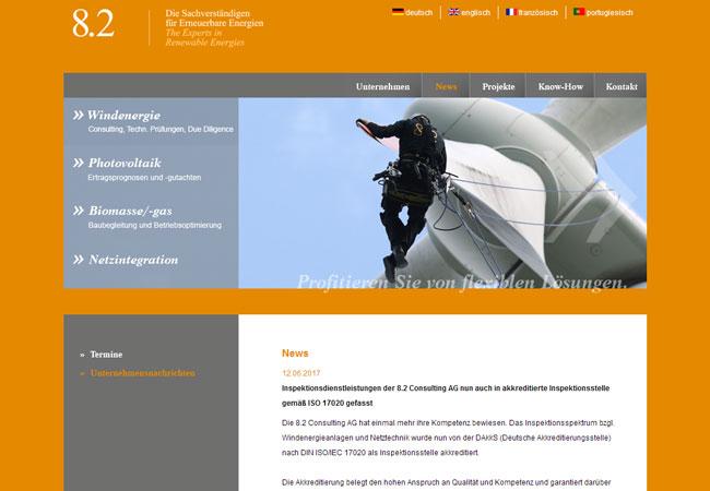 Internetauftritt 8.2 / http://www.8p2.de