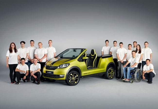 Pressebild: SKODA ELEMENT: SKODA Auszubildende bauen Elektro-Buggy. Nach drei erfolgreichen Fahrzeugstudien in den vergangenen Jahren entschieden sich die Auszubildenden jetzt für einen Elektro-Buggy, der den Namen SKODA ELEMENT trägt.