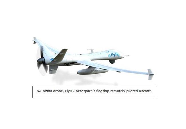 Brennstoffzellen-angetriebene Drohne / Pressebild