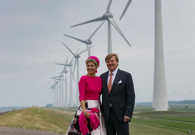 Pressebild: Königsbesuch Noordoostpolder König Willem-Alexander und Königin Máxima Foto Freddy Schinkel, IJsselmuiden © 290617