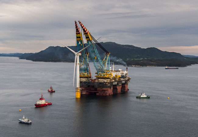 Innovation bei weltweit größtem schwimmenden Windpark von Siemens Gamesa kann neue Offshore-Bereiche erschließen / Pressebild