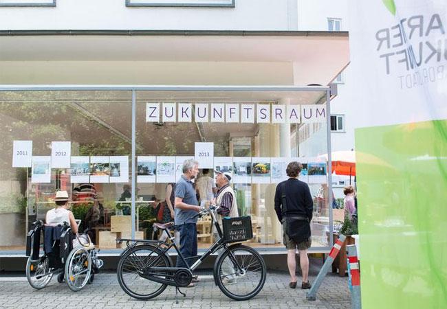 Der Zukunftsraum des Reallabors 131 des KIT dient den Bürgerinnen und Bürgern der Oststadt als Treffpunkt, Informations- und Bildungsstätte. / (Foto: Tanja Meißner)
