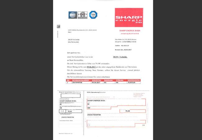 Abbildung: Betrug durch gefälschte Rechnungen