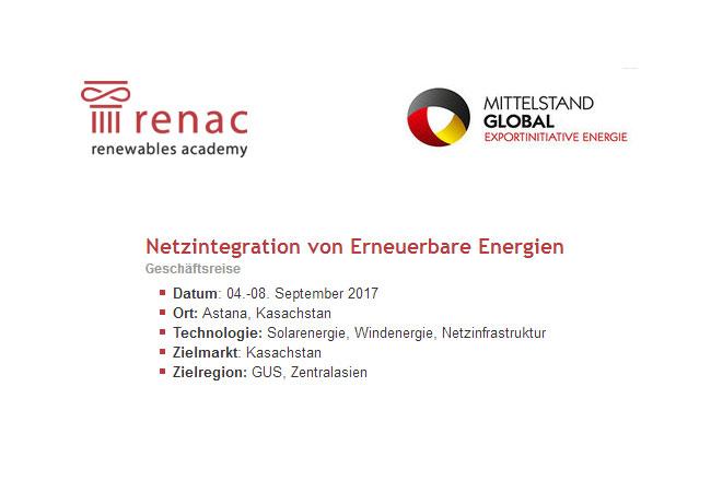 "Energiewende ""made in Germany"" trifft auf Zukunftsenergie in Kasachstan"
