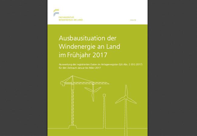 Ausbausituation der Windenergie an Land im Frühjahr 2017
