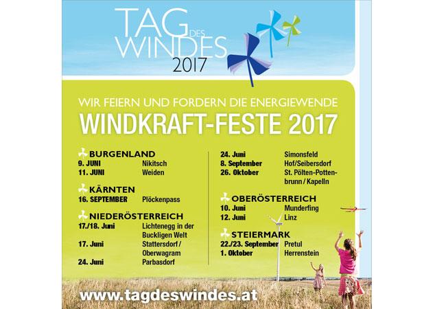 Windkraftfeste in Österreich / Pressebild