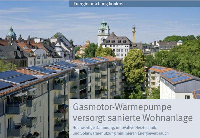 Gasmotor-Wärmepumpe beheizt Wohnanlage in München / Pressebild: BINE