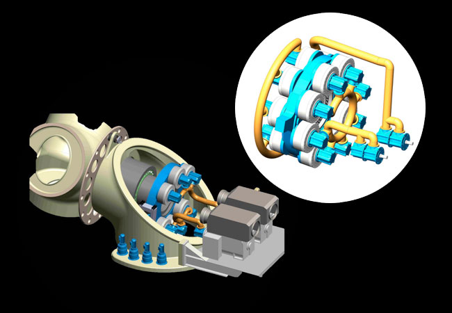 Pressebild: INNAS and Hydrautrans develop hydraulic transmission for offshore wind turbines
