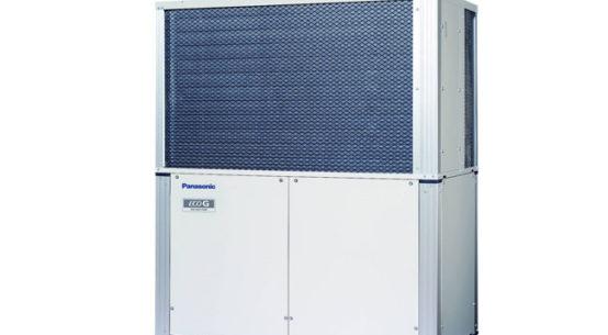 Pressebild: Die neuen ECO G-Gasmotorwärmepumpen GE3 von Panasonic überzeugen durch sparsamen Betrieb und flexible Einsatzmöglichkeiten.