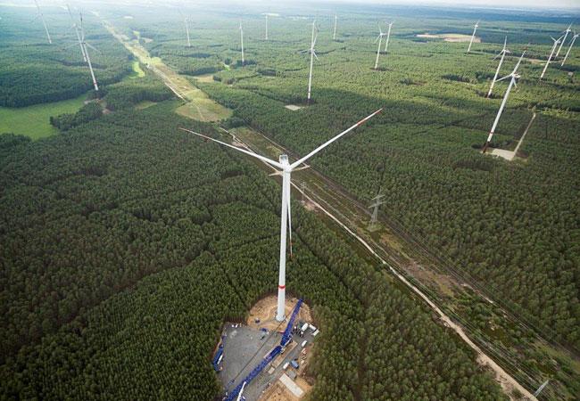 Bildmotiv der installierten V136 aus der Luft. Quelle: UKA