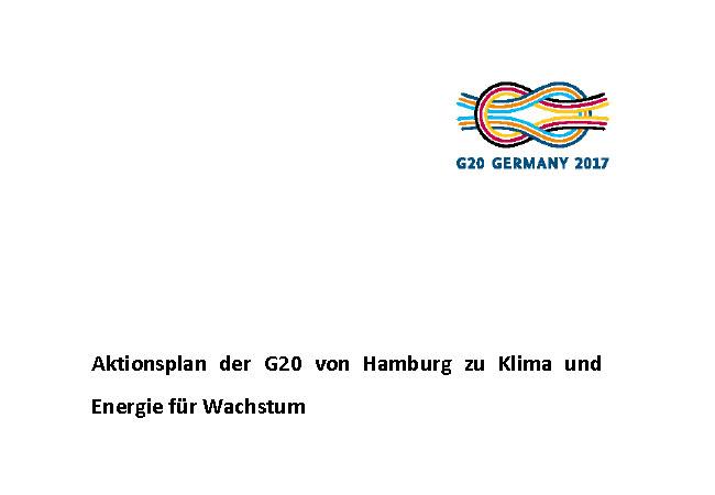 Aktionsplan der G20 von Hamburg zu Klima und Energie für Wachstum