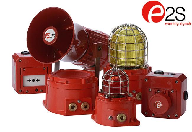 Pressebild: E2S präsentiert bei Offshore Europe innovative LED-Technologie für Warnsignale in Gefahrenbereichen