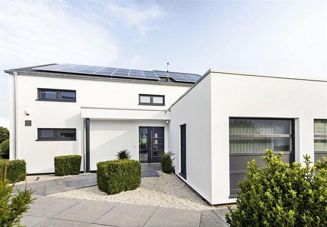 Die nachhaltigen Häusern der DFH sparen bereits bei der Produktion, vor allem aber während der Nutzung viel CO2 ein. Foto: DFH