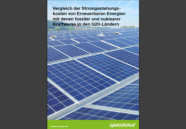 Vergleich der Stromgestehungs kosten von Erneuerbaren Energien mit denen fossiler und nuklearer Kraftwerke in den G20 Ländern