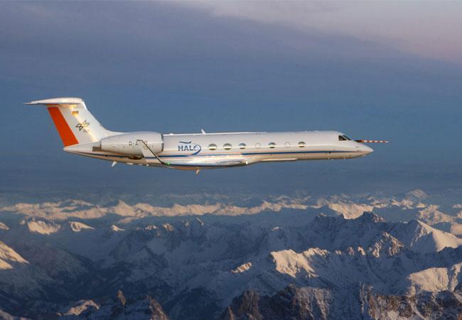 Forschungsflugzeug HALO misst Emissionen / Pressebild: DLR