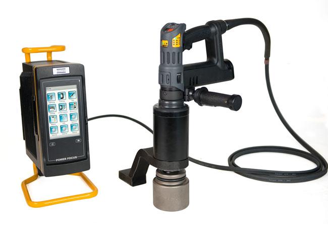 Bildunterschrift: Für sicherheitskritische Verschraubungen eignet sich der Tensor Revo HA. Der Elektroschrauber ist laut Hersteller weitaus schneller als vergleichbare Systeme auf dem Markt. (Bild: Atlas Copco Tools)