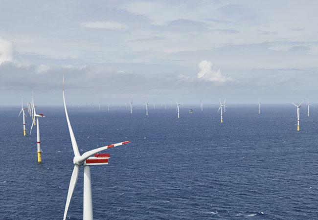 "Offshore-Windkraftwerk ""Sandbank"" offiziell in Betrieb / Pressebild"