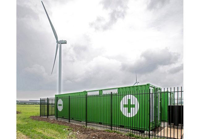 Es handelt sich dabei um das zweite Projekt, das einen Energiespeicher mit einer Windfarm verbindet / Pressebild