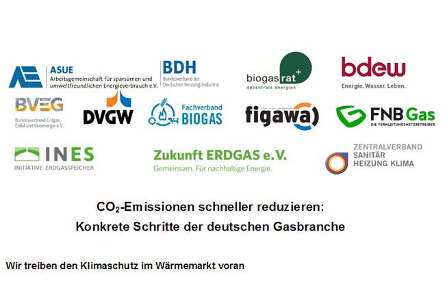 CO2 - Emissionen schneller reduzieren: Konkrete Schritte der deutschen Gasbranche