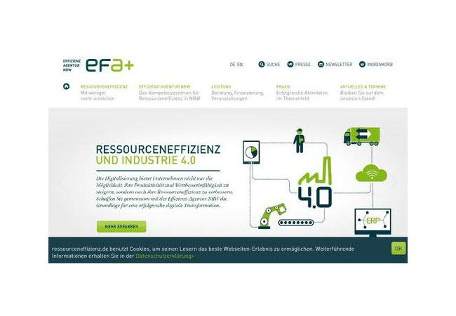Die Effizienz-Agentur NRW (EFA) wurde 1998 auf Initiative des nordrhein-westfälischen Umweltministeriums gegründet