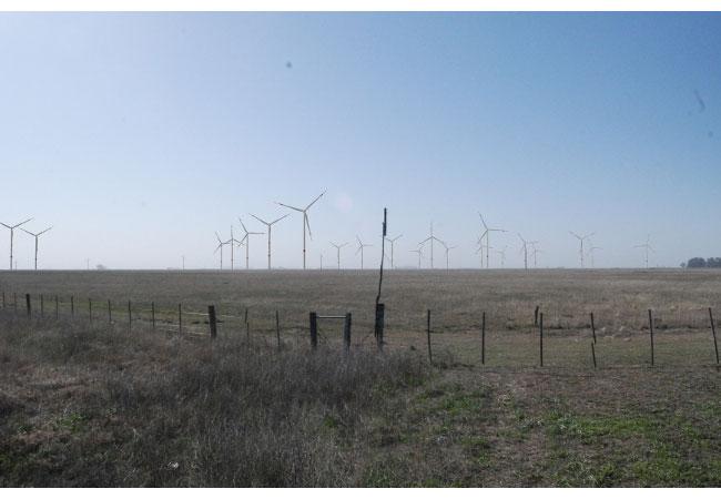 Das Bild zeigt die Visualsierung eines von ABO Wind geplanten Windparks in Argentinien, Provinz Buenos Aires. / Pressebild