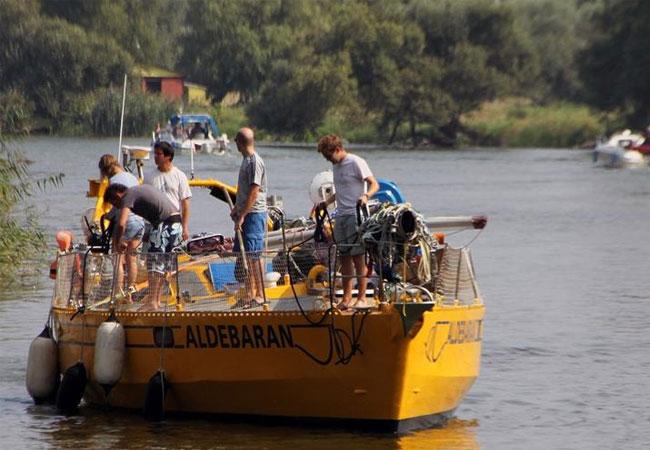 Team auf dem Forschungsschiff ALDEBARAN