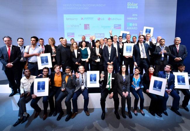 Die Intersolar Award Gewinner 2016 © Solar Promotion GmbH