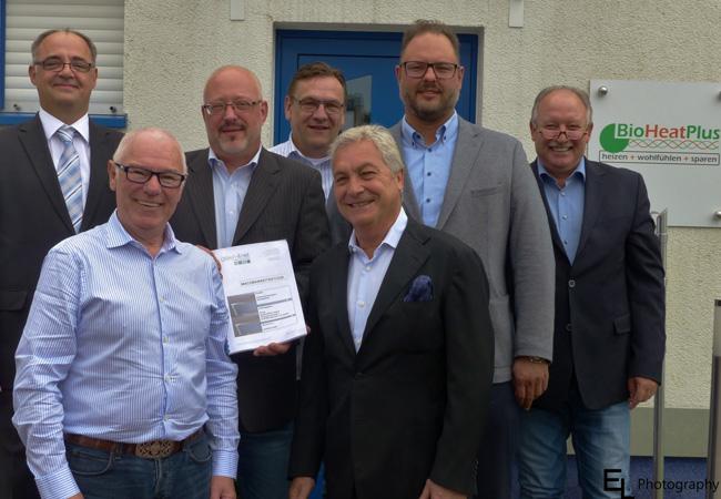 Pressebild: Von links nach rechts: A. Schneider (g4n), R. Förster (BHP), Dr. T. Littmann (g4n), J. Grote (BHP), H.-J. Koch (BHP), O. Skadow (g4n), H. Föhse (BHP)
