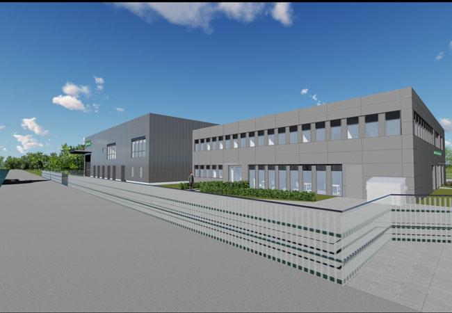 Visualisierung des neuen Betriebsgebäudes / Bildrechte: Goldbeck GmbH