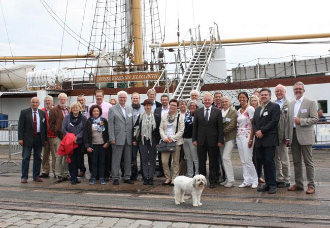 Eine Delegation aus dem Kreis Borken war zum Partnerschaftstreffen im Landkreis Wesermarsch