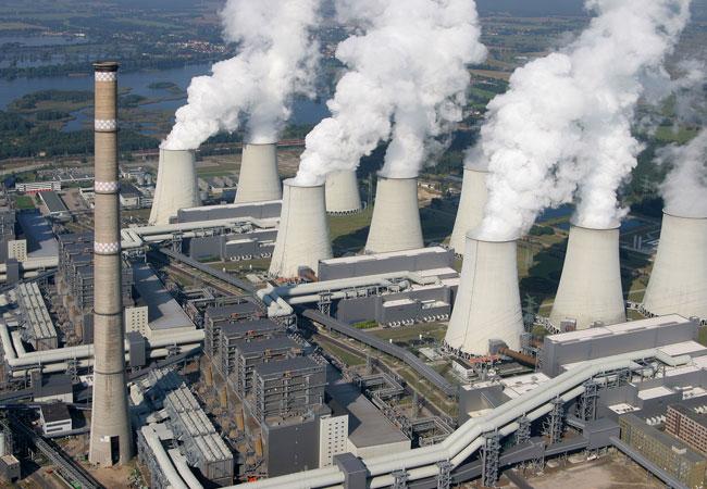 Das Kraftwerk Jänschwalde aus der Vogelperspektive. Bild: Copyright by Jörg Friebe, www.Lausitz-Bild.de