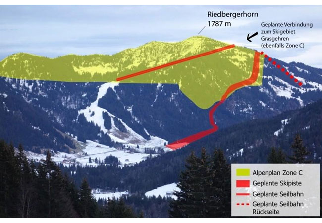 Die Auseinandersetzungen um den Bau einer Skischaukel am Riedberger Horn spitzen sich auf bedrohliche Weise zu. / Pressebild
