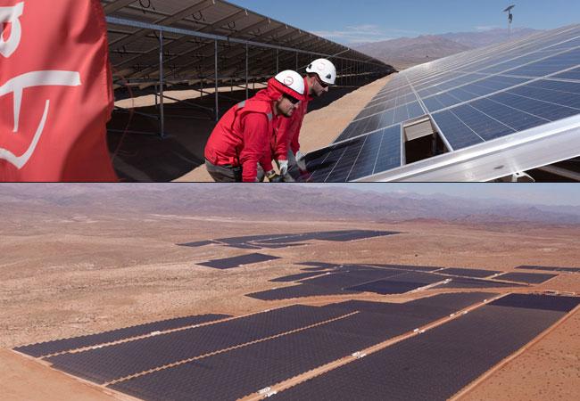 ACCIONA baut die größte Photovoltaik-Anlage Lateinamerikas in der Atacama-Wüste (Chile)