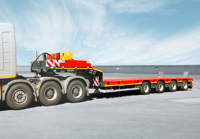 The SCHEUERLE Euro Axle is maintenance-free and ensures extremely low tyre wear / pressebild