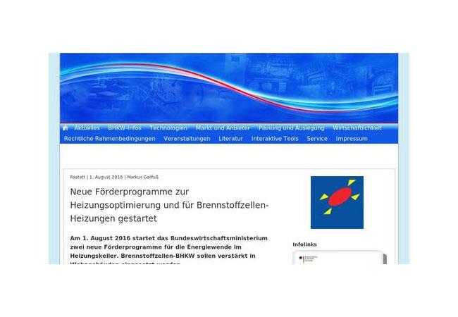 Deutschland fördert neue stromerzeugende Heizungen in Wohngebäuden