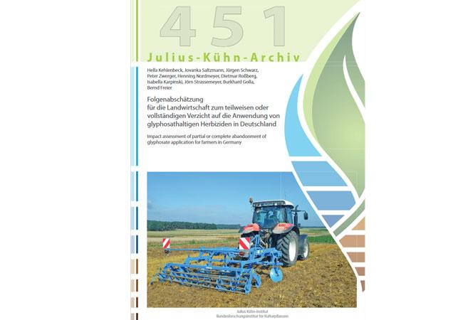 """Studie """"Folgenabschätzung für die Landwirtschaft zum teilweisen oder vollständigen Verzicht auf die Anwendung von glyphosathaltigen Herbiziden in Deutschland"""" des Julius-Kühn-Instituts herunterladen (PDF)"""
