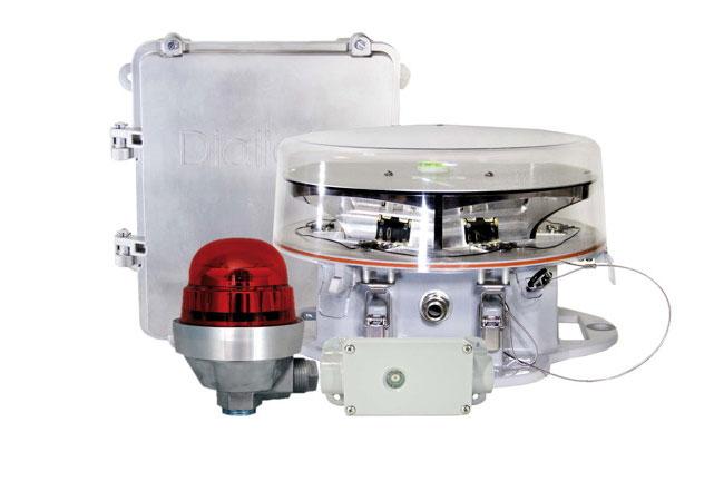 Das neue A1/A0 Red Controller System von Dialight ist die weltweit effizienteste Steuerung für Hindernisbefeuerungen. Mit einer Leistungsaufnahme von nur 3 Watt können bis zu 16 LED-Leuchten angesteuert und überwacht werden. / Pressebild: Dialight