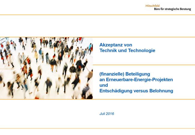 """Studie """"Akzeptanz von Technik und Technologie"""" – Beteiligung an Erneuerbare-Energie-Projekten"""