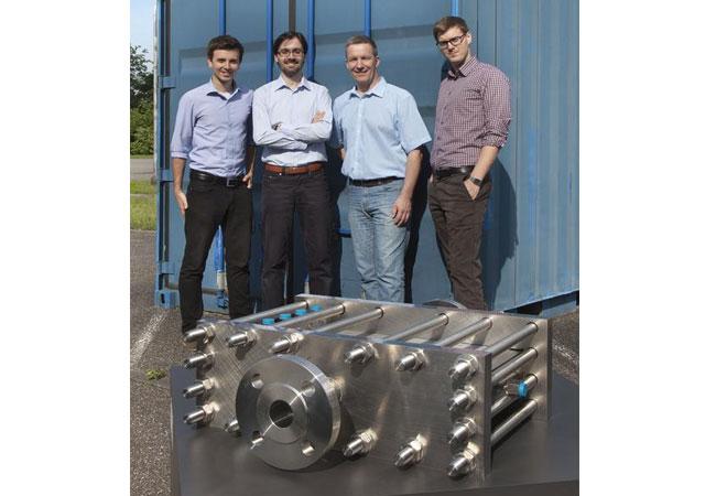 Die Gründer von INERATEC, v.l.n.r.: Philipp Engelkamp, Paolo Piermartini, Peter Pfeifer und Tim Böltken. / Bild: INERATEC/KIT