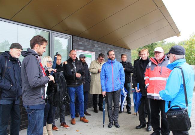 Bildunterschrift: 15. Kieler Branchenfokus: Windindustrie - Besichtigung der Schleuse in Holtenau