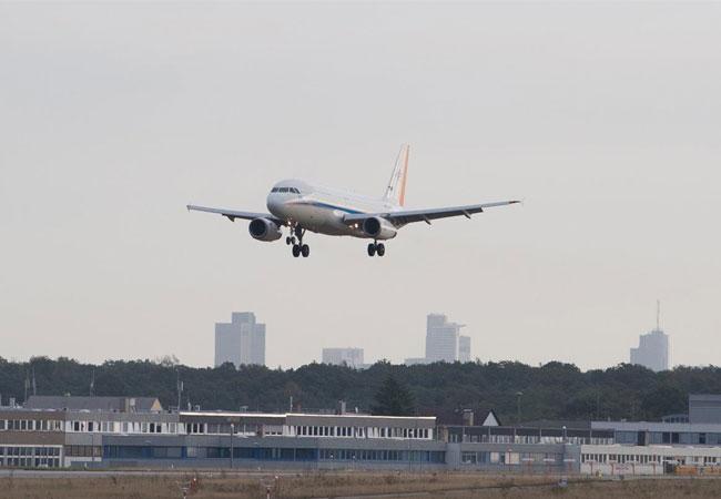 Landeanflug Frankfurt / Pressebild