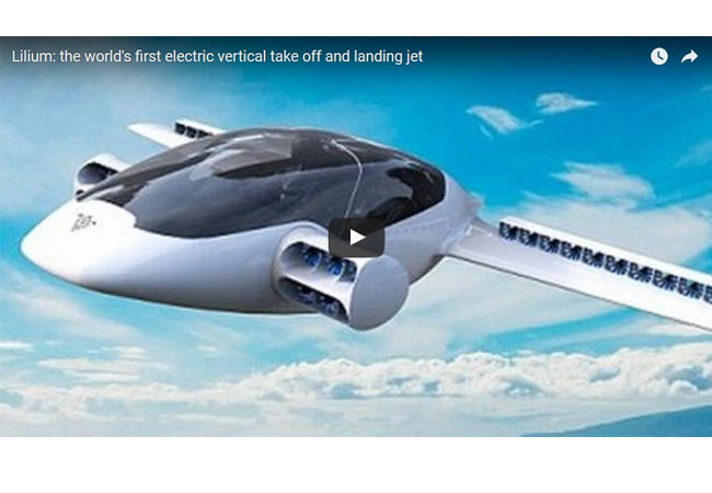 Lilium: the world's first electric vertical take off and landing jet / Video